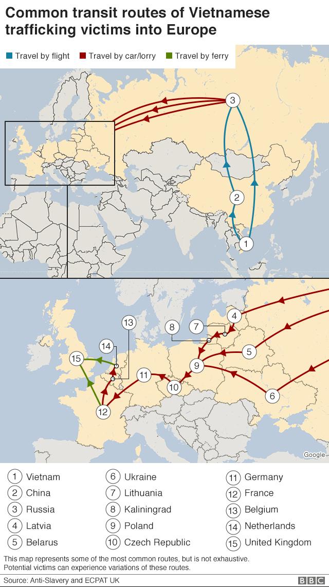 Các tuyến đường có thể được nhiều nhóm đưa người Việt vào châu Âu sử dụng