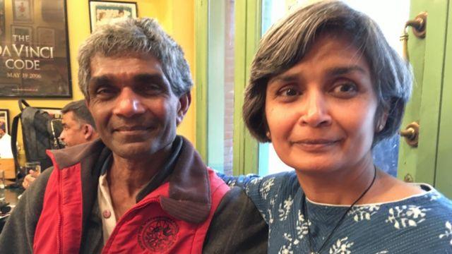 Ms Govindarajulu with her elder brother Karun Thanjavur