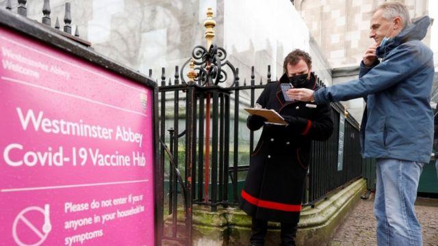 Abadia de Westminster se tornou centro de vacinação