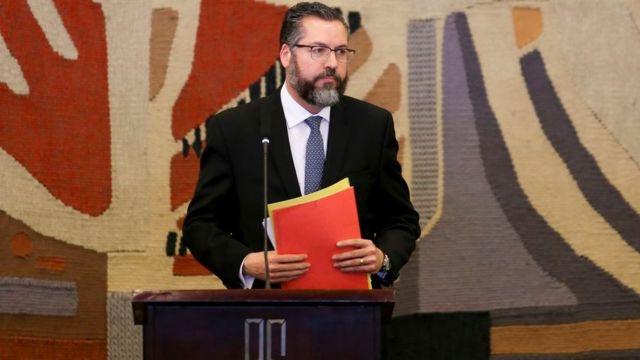 O ministro Ernesto Araújo