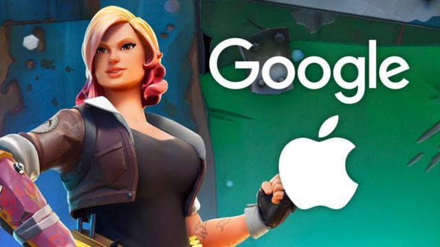 Google and Apple logos