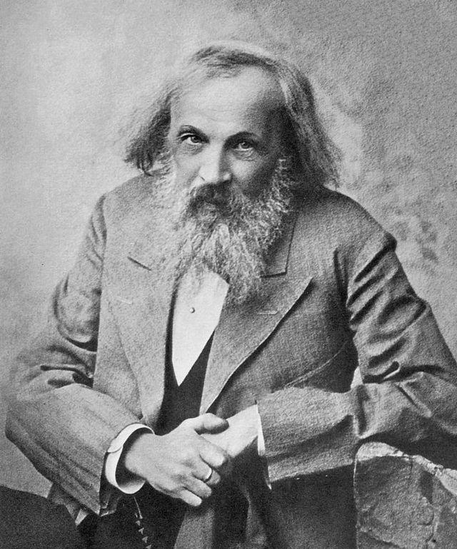 Mendeleev, em retrato de autoria desconhecida