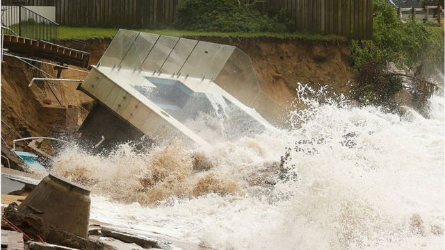 A swimming pool collapsed on Collaroy Beach