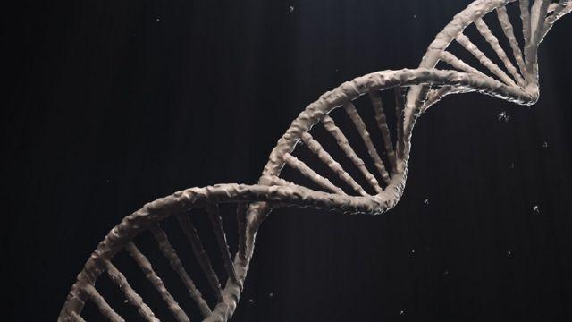 Uma ilustração simula cadeia de DNA