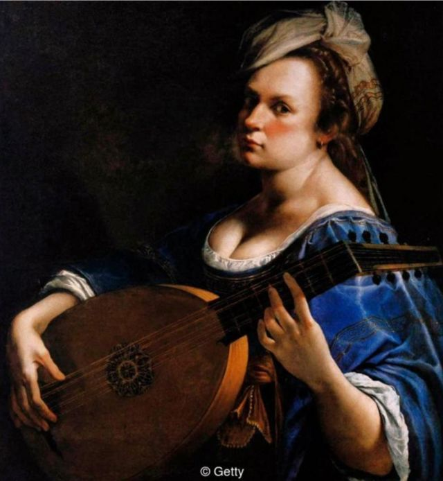 Self-Portrait as a Lute Player, dari 1615-18.