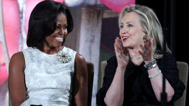Michelle Obama y Hillary Clinton