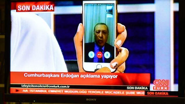 Perezida Erdogan kuri Facetime