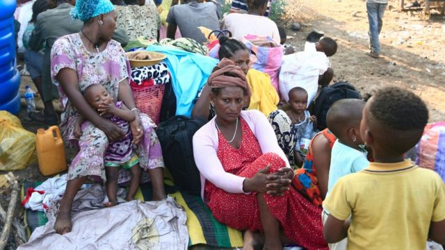 لاجئون من إقليم تيغراي نزحوا من مناطق الحرب إلى السودان