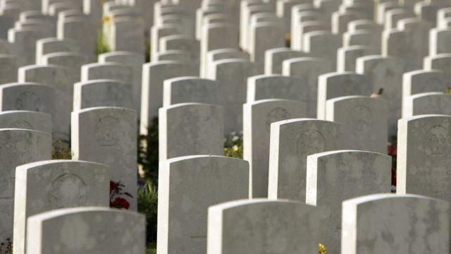 Cemitério de guerra na França