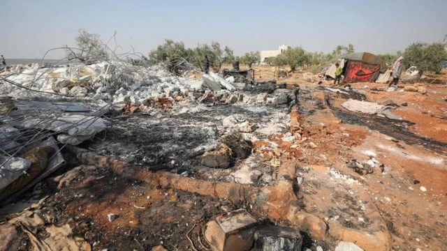 Lugar onde ocorreu operação que matou Baghdadi