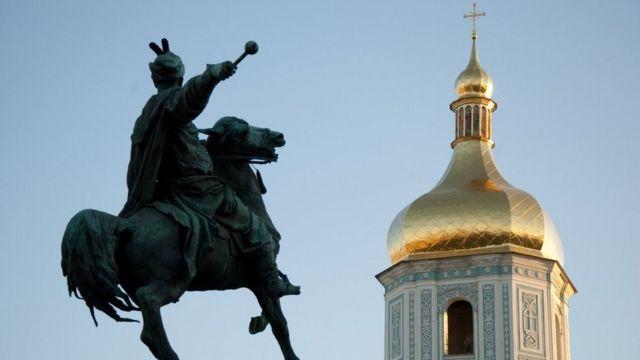 Колокольня Софийского собора Богдан Хмельницкий