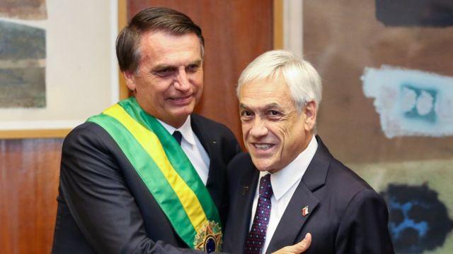 Jair Bolsonaro y Sebastián Piñera