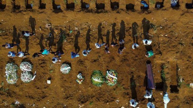 Vista aérea del cementerio Vila Formosa, en Sao Paulo.