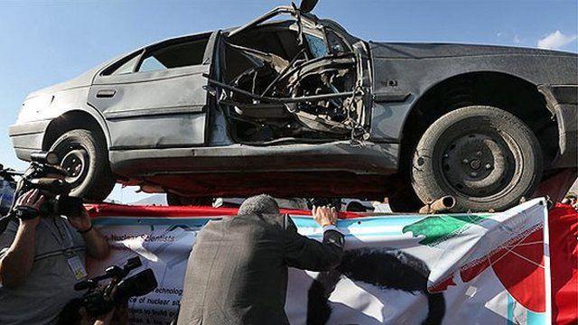 تصویری از خودروی مصطفی احمدی روشن