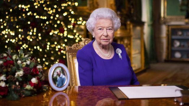 Imagen de la reina en el castillo de Windsor a mediados de diciembre de 2020