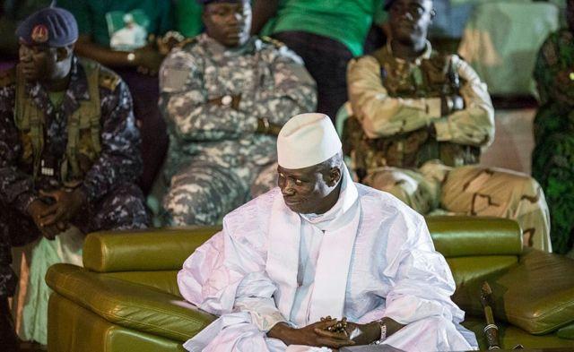 Yahya Jammeh photographié en novembre 2016, le mois avant qu'il ne perde les élections