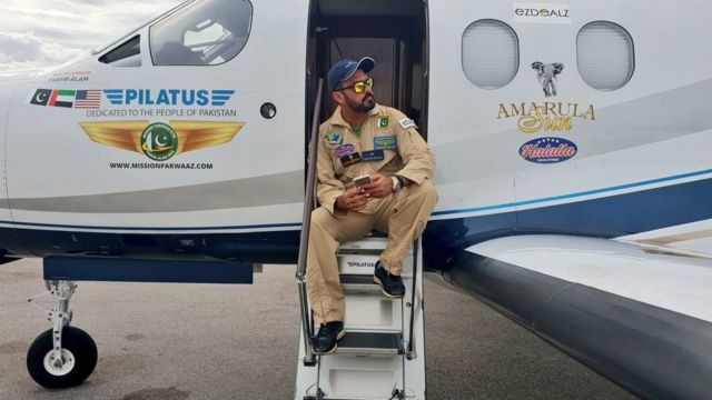 Pakistani pop star Fakhr-e-Alam begins Asia leg of round-world flight