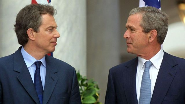 Blair y Bush