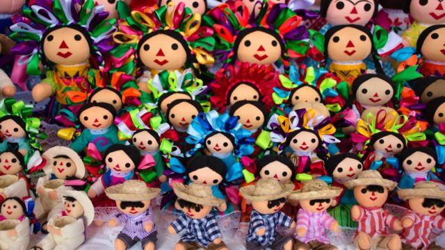 Muñecas artesanales mexicanas