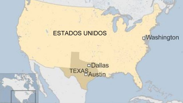 Mapa de Estados Unidos y Texas