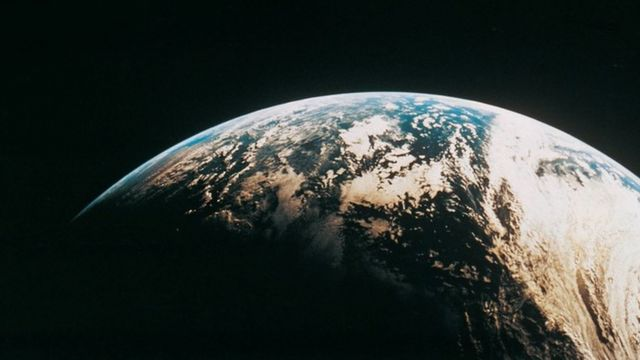 Una vista de la Tierra desde el espacio