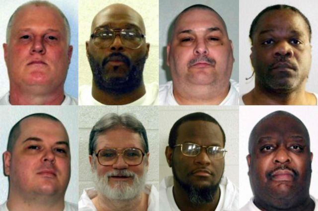 Подборка фотографий приговореннных к смертной казни в штате Арканзас в марте 2017 года