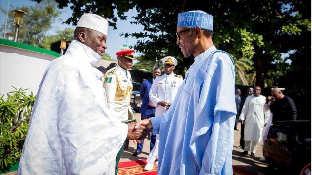 Muhammadu Buhari da Yahya Jammeh