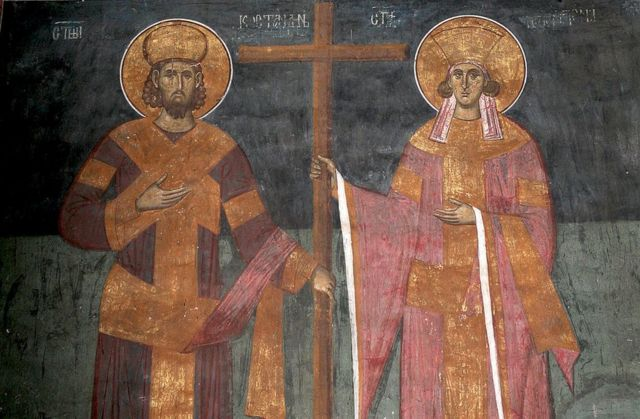 Imagem de Constantino e de sua mãe, Helena