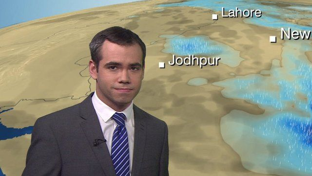 BBC Weather reporter Ben Rich explains why Myanmar has seen such exceptionally heavy rainfall