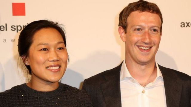 Facebook co-founder Mark Zuckerberg and wife Priscilla Chan