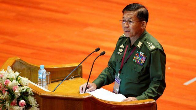 Myanmar Military Commander in Chief Senior General Min Aung Hlaing