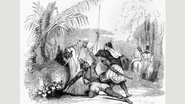 """Una ilustración tomada de una edición de """"Las mil y una noches"""""""