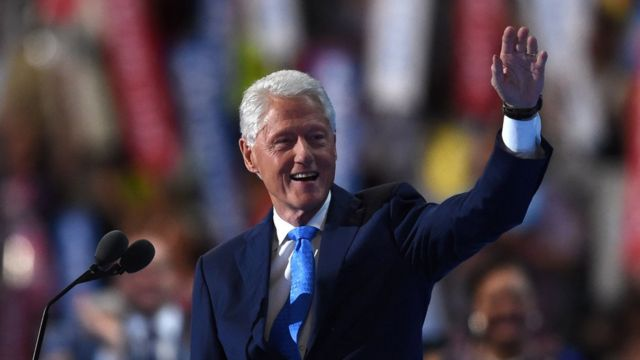 党大会2日目に登壇したビル・クリントン元大統領(26日)