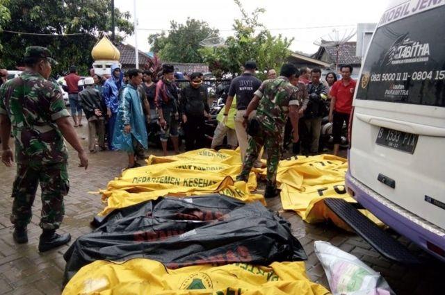 Mortos após o tsunami