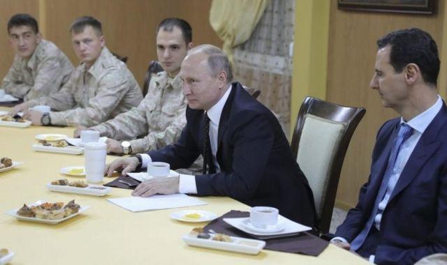 Rusya Devlet Başkanı Vladimir Putin ve Suriye Devlet Başkanı Beşar Esad