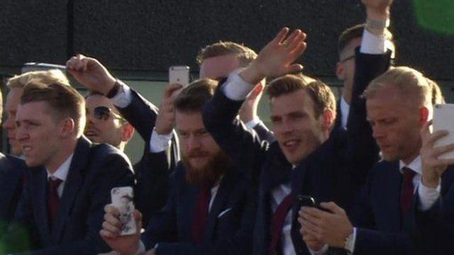 Сборная Исландии вернулась домой