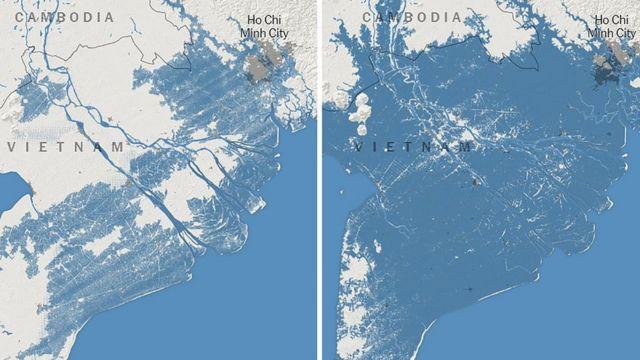Các nhà khoa học Mỹ dự đoán miền Nam Việt Nam có thể chìm dưới mực nước biển vào năm 2050