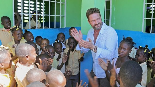 Gerard Butler highlights work of Scots charity in Haiti