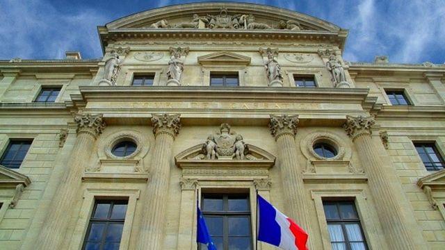 Exterior do tribunal de apelação da França