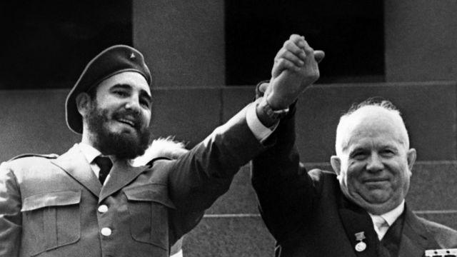 Fidel Castro y Nikita Krushev