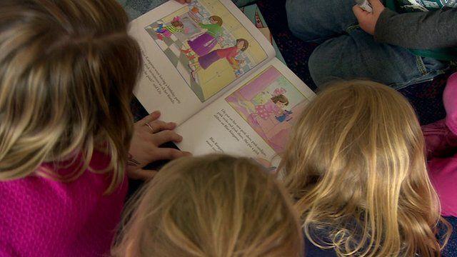Nursery children reading