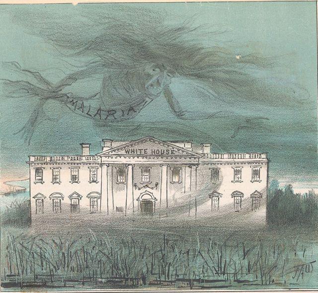 La Casa Blanca con el fantasma de la malaria sobre ella