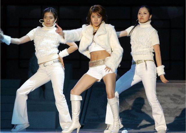 보아 2005년 공연 모습