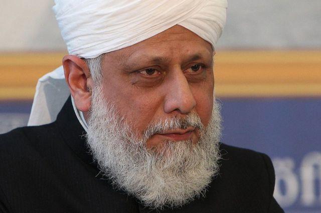 El califa Mirza Masroor Ahmad.