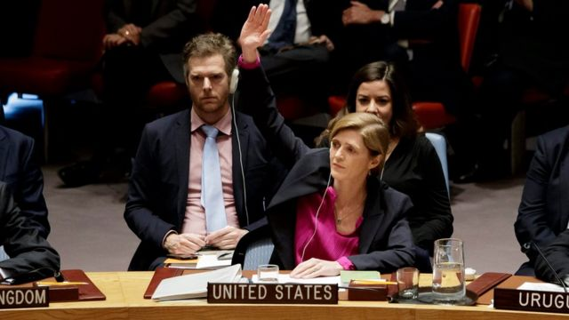 الولايات المتحدة تمتنع عن استخدام الفيتو ضد قرار مجلس الأمن المطالب بوقف النشاط الاستيطاني الاسرائيلي