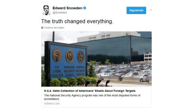 Snowden en Twitter