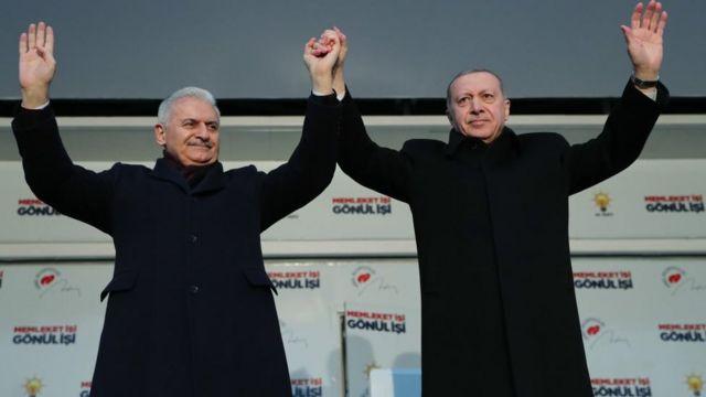 Cumhurbaşkanı Erdoğan ve İstanbul adayı Binali Yıldırım