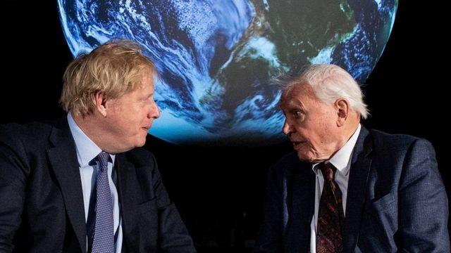 Boris Johnson ve David Attenborough