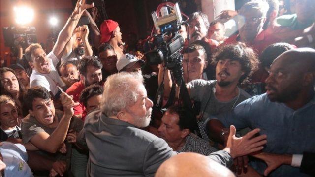 Luiz Inacio Lula da Silva leaves the steelworkers 'union in Sao Bernardo do Campo, Brazil April 7, 2018