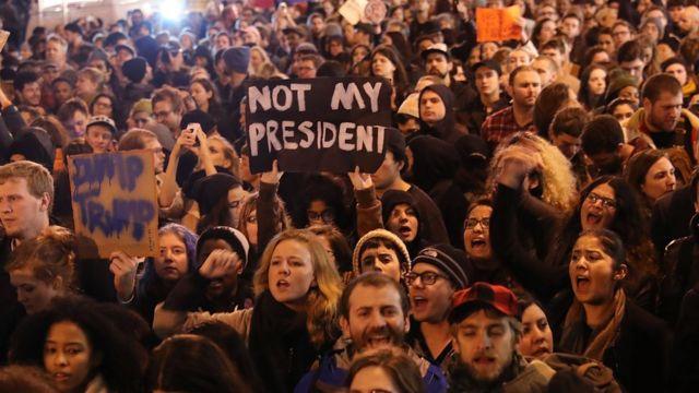USA, demos, trump, not my president